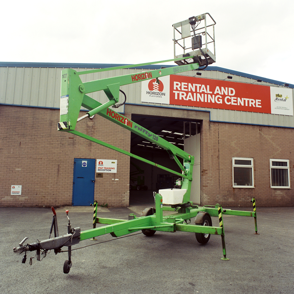 10m Battery Trailer Mounted Boom Lift - Niftylift TM120E