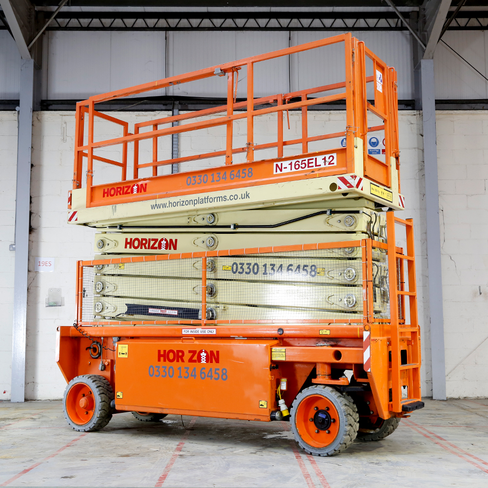 16.5m Battery Scissor Lift - Holland Lift N165-12