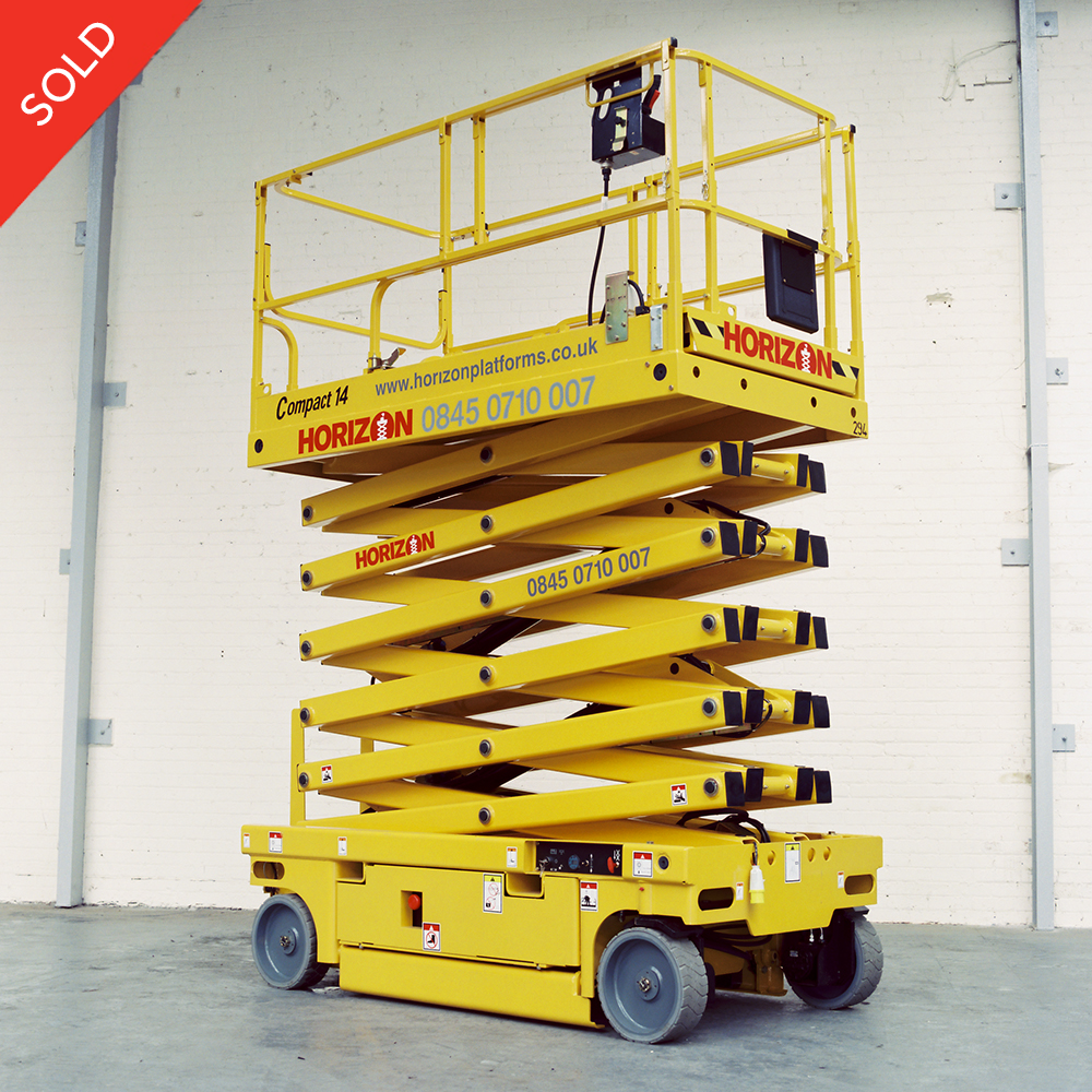 12m Battery Scissor Lift - Haulotte Compact 14